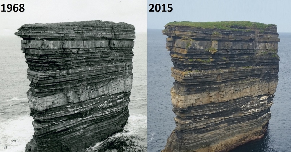 Erosion from 1968 to 2015